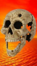 Halloween altweiß Gusseisen Kopfschuss Totenkopf Teelicht ausgefallen Geschenk