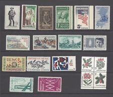 U.S. 1964 Commemorative Year Set 19 MNH Stamps