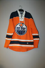 New Nhl Edmonton Oilers old time jersey style mid weight cotton hoodie men's Xl