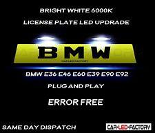 Fit BMW E36 E46 E60 E39 E90 E92  White LED Number Plate Light Bulb *PLUG & PLAY*