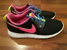 Nike Roshe One Girls Grade-School Athletic Shoes Black Pink White Size 6Y