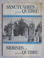 1940s Shrines Of La Province De Quebec Booklet