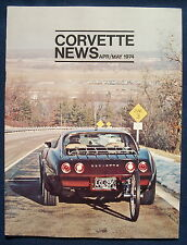 Prospectus brochure CORVETTE News Avril/May 1974 (usa)