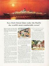 "1961 P&O Orient Lines Cruise Ship ""Oriana"" PRINT AD"