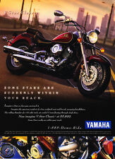 """1998 Yamaha V-Star Classic Motorcycle photo """"Within Your Reach"""" promo print ad"""