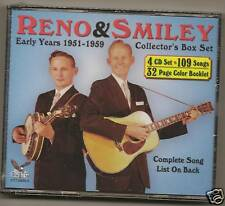 RENO & SMILEY, 4 CD SET, 109 SONGS, 32 PAGE BOOKLET,NEW