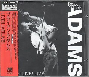 Bryan Adams  CD LIVE ! LIVE ! LIVE !   ( JAPAN )