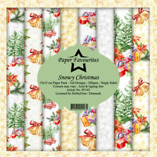 New Dixi Craft  Paper Favourites 15cm x 15cm Paper Sheets Christmas Snowy