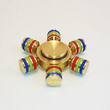 Luminous Fidget Hand Spinner Torqbar Brass Puzzle Finger Toy Spin Autism