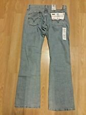 LEVI'S 513 BUTTON FLY low slouch boot cut jeans. Sz 7 jr. Stretch, vintage NWT