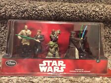 Disney Star Wars Jedi Figurine Set - Disney Store  Yoda,Luke,Anakin,Obi Wan NEW