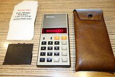 Litronix 1102 Taschenrechner alt  .Rote LED . Defekt