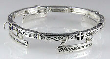 4031314 Philippians 4:13 I Can Do All Things Stretch Bracelet Christian Scrip...