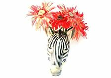 Zebra wall vase by Quail pottery Wall hanging Pot Flower display  Gift Boxed