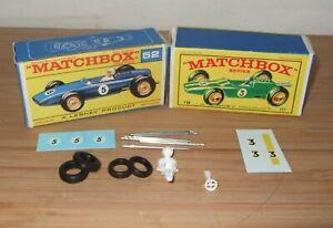 Matchbox Lesney 19 Lotus 52 BRM Racing Car Reproduction Spare Parts Choose List