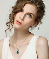Fashion Girl Rhinestone Chain Crystal Waterdrop Necklace Pendant Wedding Jewelry