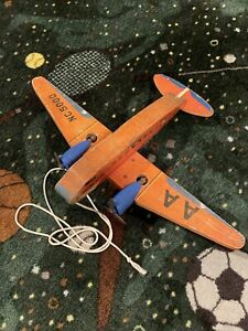 1941 FISHER PRICE # 170 AMERICAN AIRLINES FLAGSHIP WOOD PLANE DC-3 TOY RARE!