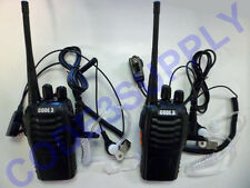 Covert Security Bar Nightclub Bouncer  2 Way Radio Walkie Talkie Headset Package