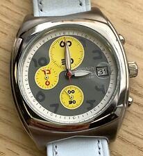 NOS New Vagary 412 WORKING Quartz 37mm Chronograph Watch Date