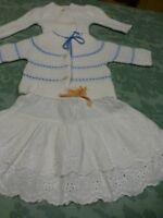 3piéces lot 3-6mois bébé ou poupée vintage de 25-30cm bella ,gégé ,clodrey