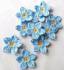 Crochet BLUE FLOWERS  APPLIQUES  Paper Scrapbooking SPRING  SUPPLIES  CRAFTS