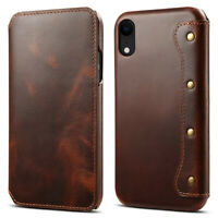 100% Genuine Real Leather Wallet Flip Case Cover For iPhone 11 Pro Xs Max XR 7 8