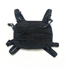 Coaxher Tactical Chest Pack One Size Black Back Strap Bag Kanye Crossbody