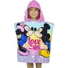 6540607be3d349 Minnie & Mickey Kinder Poncho Kapuze Duschtuch Badetuch Strandtuch