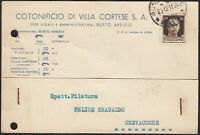 AA6550 Ditta Antonio Colombo S. A. - Busto Arsizio 1941 - Cartolina commerciale