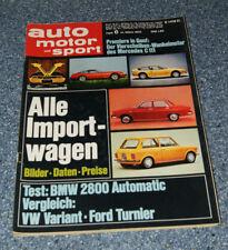 AMS 6/70 BMW 2800, Ford Taunus P7 Turnier - VW 411 Variant, BLMC Mini Cooper S