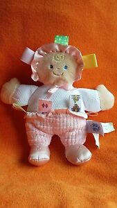 """Mary Meyer Taggies Rag Doll Soft Toy Doll Comforter Doudou 8.5"""" Retired"""