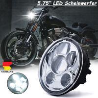 "5-3/4"" 5.75"" LED Projektion Hi/Lo Haupt Scheinwerfer Chrom Für Harley E-Gerüpft"