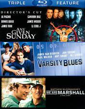 Varsity Blues/Any Given Sunday/We Are Marshall (Blu-ray Disc, 2013, 3-Disc Set)