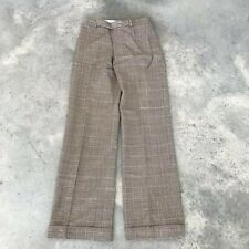 Adec 2 Adec2 Houndstooth Wool Blend Womens Trouser Brown Career Pants (X) Size 4