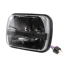 "5""x7"" Led Headlight Hi/Low Beam Rectangular For Jeep YJ Cherokee XJ Ford GM VAN"