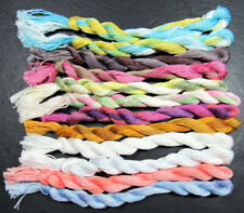 12x Needlepoint/Embroidery THREAD Hand-dyed Cotton Floss-mixed-TX180