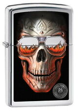 ZIPPO Feuerzeug ANNE STOKES Collection SKULL WITH SUNGLASSES Spring 2016 NEU OVP