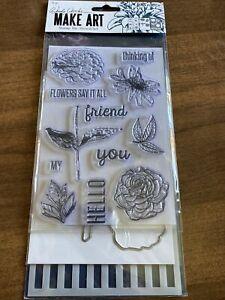 Ranger Wendy Vecchi Make Art Stamp, Die and Stencil Set - Flowers Say It All