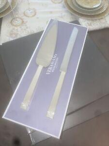 Vera Wang Love Knots Silver Cake Server And Knife Set