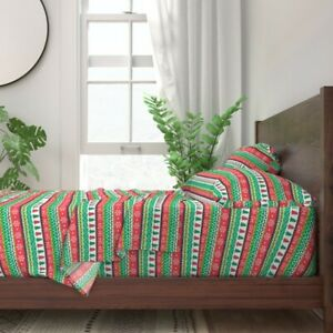 Holiday Christmas Xmas Holidays 100% Cotton Sateen Sheet Set by Roostery