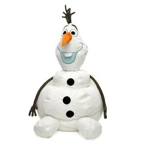 """Disney Frozen Giant Olaf Figural Stackable Bean Bag Chair 41"""" Tall"""