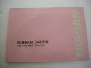 Repair Manuals Literature For 1989 Nissan 240sx