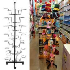 Hat Cap Display Retail Adjustable Rotating Metal Stand Hanger Rack Homdox ItS7