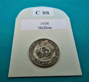 1938 ENGLISH SHILLING 1/-