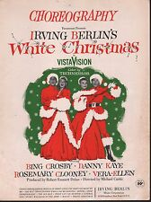 Choreogrphy White Christmas Bing Crosby Rosemary Clooney Sheet Music