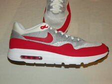 NEW SZ 15 MENS NIKE AIR MAX 1 ULTRA FLYKNIT WHITE RED GREY SHOES $180 843384 101