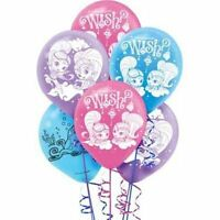 """(12ct) Shimmer and Shine Birthday Latex Balloons Party Supplies 12"""""""
