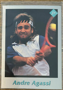 ANDRE AGASSI Rare 1991 Tuff Stuff and 03 Netpro 25 count lot ROOKIE lot Mint