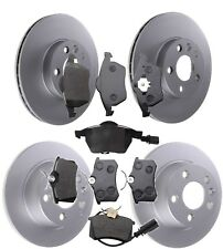 FRONT & REAR BRAKE DISCS AND PADS SET FITS FORD GALAXY SEAT ALHAMBRA VW SHARAN