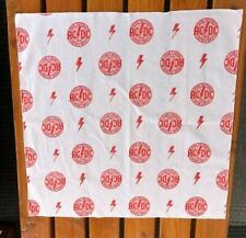 """Bandana New Ac & Dc 1975 High voltage Rock & Roll design White and Red 22 """"X22"""""""